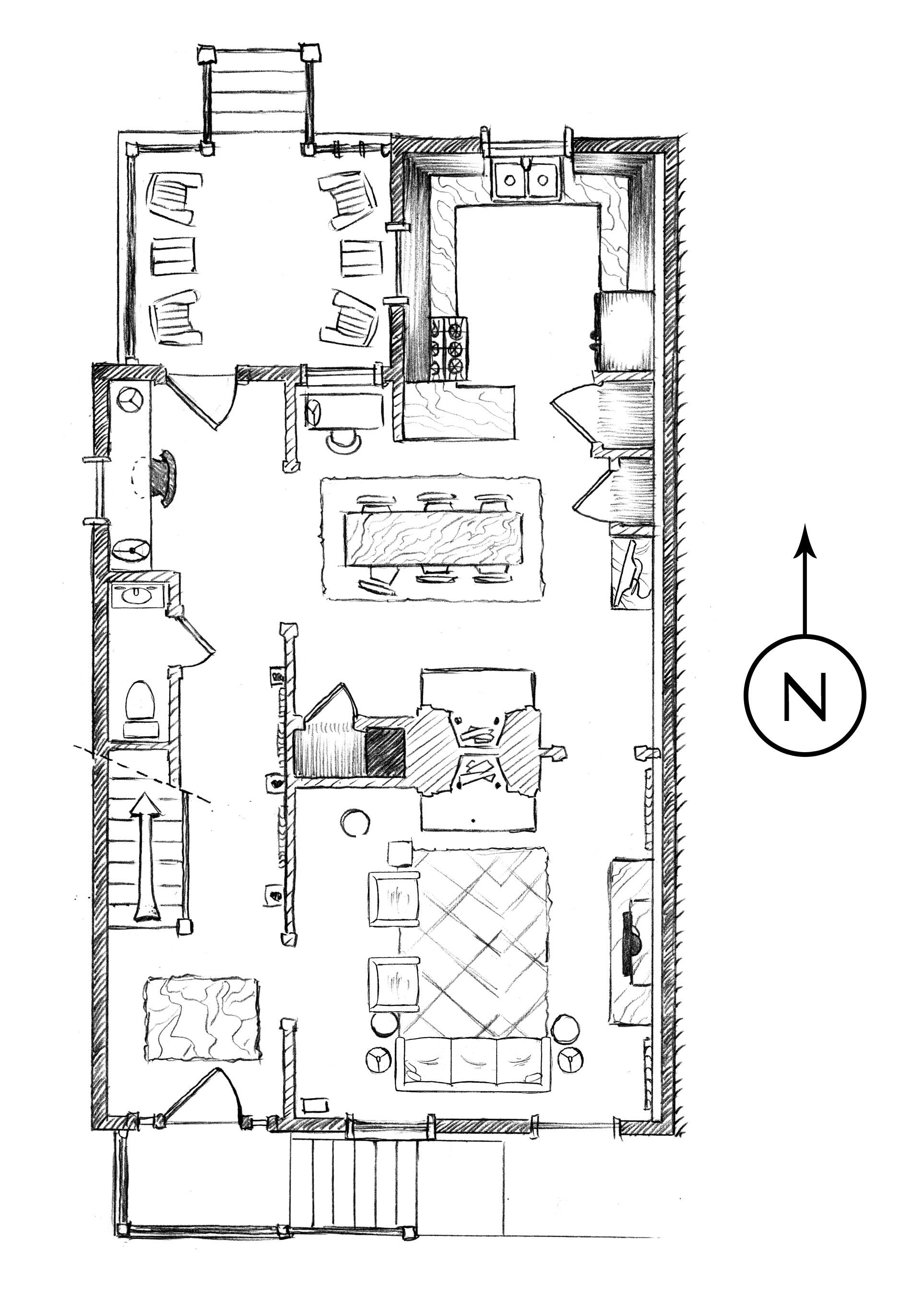 Floor Plan Jingle Bells Square House